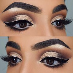You don't need to praise these stunning eye makeup ideas, because you wont be able to. All you could do is keep looking at them in awe, forever and ever. #makeupideaseyebrows