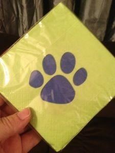 Paw print napkins