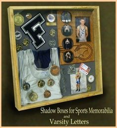 Shadow box is a box where you keep many memories there. To decorate it we have many variant shadow box ideas that could make it more interesting. Trophy Display, Award Display, Display Medals, Trophy Shelf, Medal Displays, Senior Gifts, Graduation Gifts, Graduation Ideas, High School Memories