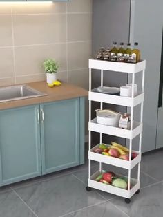 Multifunctional - This storage cart can be used Narrow Space or Room Corner, Space --saving size and used for easy Storage and Transportation as tools cart, Serving Cart, Organization Rack in Kitchen, Diy Kitchen Storage, Kitchen Drawers, Diy Storage, Kitchen Cabinets, Storage Design, Kitchen Shelf Organizer, Corner Cabinet Kitchen, Small House Storage Ideas, Storage Room Ideas