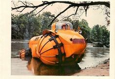Rhino (1954 1957) Aghnides Amphibious Roller or Polywog. Made in Indianapolis USA by Marmon-Herrington-Company for Marsh use.