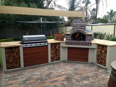 New Ideas Diy Outdoor Grill Area Pizza Ovens Outdoor Grill Area, Outdoor Kitchen Patio, Pizza Oven Outdoor, Bbq Kitchen, Bbq Area, Backyard Patio, Kitchen Bars, Patio Bar, Outdoor Kitchens