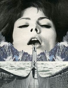 Great Escape – 16 vintage collages by Sammy Slabbinck 2013-06-13 // art collage      share it     tweet it  The collages of the artist Sammy Slabbinck, fascinated by retro pictures from magazines of the 60s and 70s. This Belgian artist mixes vintage elements and contemporary vision to create surreal collages, carried by a subtle humor.