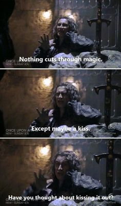 once upon a time. Rumple being sarcastic