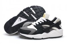 Nike Air Huarache 634835 Womens Mens Black White Gray