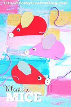 Craft Foam Valentine Mice - Valentine's Day Kid Craft Idea