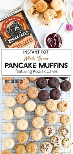 Instant Pot Whole Grain Pancake Muffins are a healthy easy breakfast on the go. Perfect for packing in lunches too! Instant Pot Whole Grain Pancake Muffins are a healthy easy breakfast on the go. Perfect for packing in lunches too! Zucchini Muffins, Muffins Blueberry, Kodiak Cake Muffins, Kodiak Cakes, Pancake Bites, Pancake Muffins, Breakfast Pancakes, Instant Pot Pressure Cooker, Pressure Cooker Recipes
