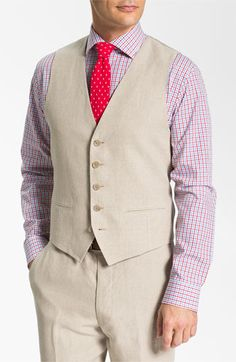 John W. Nordstrom® Linen Vest available at #Nordstrom