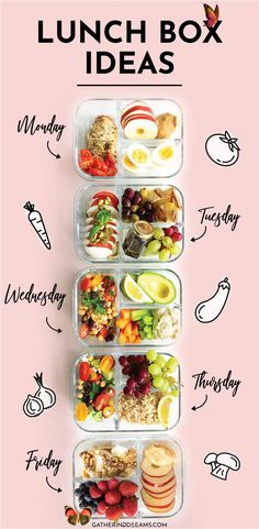 5 EASY Lunch Ideas 5 Easy and Healthy Lunch Ideas ready in 15 minutes! These make-ahead lunch recipes are perfect for a work from home lunch and great as food on the go. Save money and eat healthily! There are recipes for everyone: vegan, vegetarian, protein-packed, and low carb options! #mealprep#adultlunch #lunch #mealprepideas#lunchbox #lunchrecipes<br> Who says bringing lunch from home needs to be boring? These 5 awesome lunch box ideas are perfect for work and are ready in less than 30… Lunch Meal Prep, Healthy Meal Prep, Healthy Snacks, Healthy Work Lunches, Good Healthy Recipes, Healthy Drinks, Nutrition Drinks, Healthy Wraps, Healthy Things To Eat