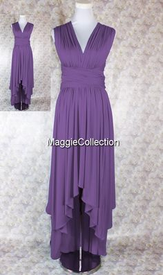 Hey, I found this really awesome Etsy listing at https://www.etsy.com/listing/226246270/purple-bridesmaid-dress-long-hi-low