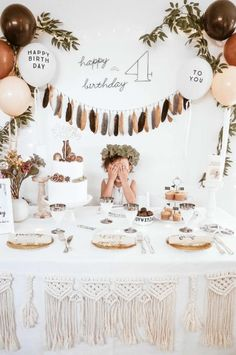 birthday party decorations 419468152796385686 - Source by evrimks Slumber Parties, 1st Birthday Parties, Birthday Party Decorations, Party Themes, Birthday Party Design, One Year Birthday, Kids Birthday Themes, Birthday Banners, Baby Girl Birthday