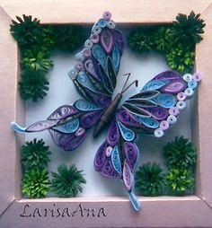 Волшебная сказка про квиллинг: Бабочки -стрекозы