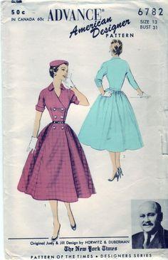 1953 Vintage dresses.