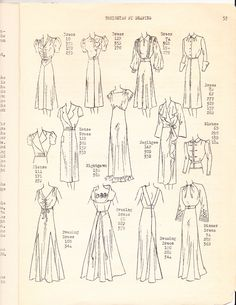 1930s Draping Book fashion style vintage gowns dress pattern sewing technique 30s women illustration print