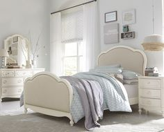 Harmony Victoria Panel Twin Bed With Upholstered Tea Stain Woven Fabric By  Legacy Classic Kids