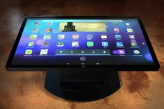 "Ideum's 46"" Multitouch Coffee Table. The Platform 46 Coffee Table's integrated computer will run Android Version 4.1 (Jellybean) on Intel's x86 architecture and will be available for purchase later in 2014. The combination of Android and Intel-based hardware makes for an incredibly fast system. #Ideum 