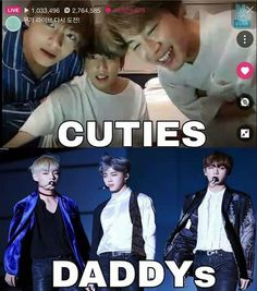 Cuties to daddies real quick Bts Memes, Funny Memes, Kpop Love, I Love Bts, My Love, Jimin Jungkook, Bts Bangtan Boy, Bts Taehyung, Lee Jong Suk