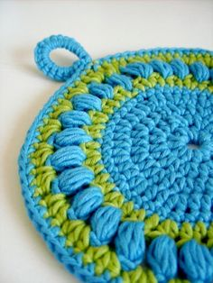 Easy PDF Crochet Pattern  Round pot holder or wash by CasaDiAries, $3.00
