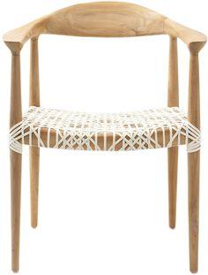 Safavieh Woven Leather Wood Armchair