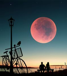 Image may contain: sky, cloud and outdoor Beautiful Moon, Beautiful Images, Love Wallpaper, Wallpaper Backgrounds, Best Couple Pictures, Mystic Moon, Silhouette Photography, Moon Pictures, Moon Photos