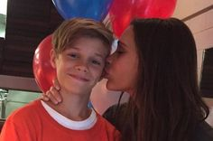 "Victoria Beckham plants a kiss on Romeo as she wishes her ""baby boy"" happy birthday - 3am & Mirror Online"