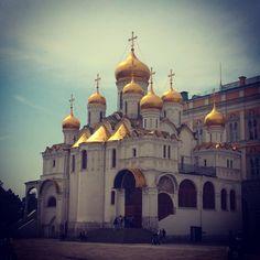 Благовещенский #собор на Соборной площади в Кремле г. Москва #храм #церковь #архитектура #church #cathedral #architecture
