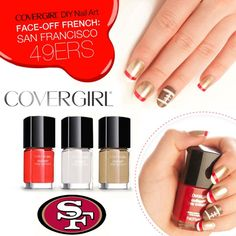 27 Football Nail Art Inspirations!... But i only care about the 49er nails! =]  Covergirls Fun Team Fanicures!