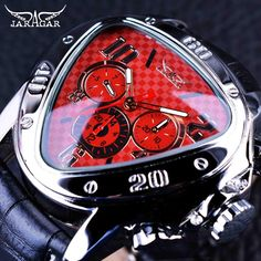 Cheap watch top, Buy Quality watch top brand directly from China watch brand Suppliers: Jaragar 2016 Sport Racing Series Red Fashion Dial Genuine Leather Strap Mens Male Wrist Watches Top Brand Luxury Automatic Watch Ted 2, Seiko Watches, Wrist Watches, Fancy Watches, Awesome Watches, Stylish Watches, Analog Watches, Elegant Watches, Casual Watches