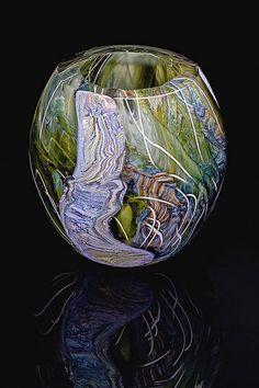 Jon Goldberg Art Glass Tectonic Thicket Bowl