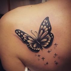 black and grey realistic butterfly tattoos - Google Search