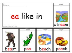 ea phonics flip book