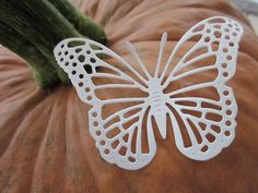 3D paper fairy butterfly wall art set in broken white, copper and teddy brown