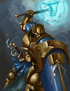 Stormcast Liberator, Rob Jenkins on ArtStation at https://www.artstation.com/artwork/stormcast-liberator