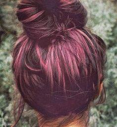 Plum Hair. If I had dark hair I would def consider this color, so cute