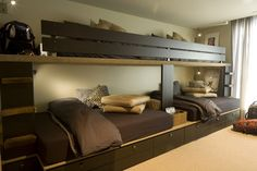 Full Over Queen Loft Bed - this would be great, except painted to match the rest of the trim in the room. Love it!