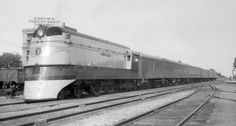 The Twin Cities Hiawatha was a beautiful, custom-built streamliner that served Chicago and the Twin Cities that first appeared in The name remains today under Amtrak. Diesel Locomotive, Steam Locomotive, Milwaukee Road, Electric Train, Train Pictures, Round House, Art Poses, Black N White Images, Modern Artists