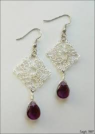 Resultado de imagen para square crochet earrings