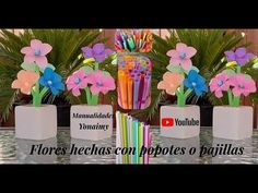 MANUALIDADES YONAIMY - YouTube Videos, Flowers, Youtube, Craft, Craft Flowers, Make Flowers, Upcycling, Invitations, Artists