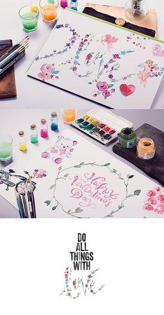 https://www.behance.net/gallery/22956941/Lovely-Watercolor-Doodles