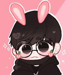 Jungkook Fanart, Jungkook Cute, Anime Neko, Anime Art, Chibi Bts, Kpop Drawings, Blackpink And Bts, Bts Pictures, Kpop Groups
