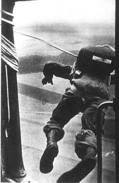 Description: Making the jump, Crete 1941