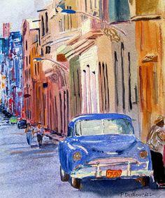 cuban arts and paintings | cuban Daze Painting by Patrick DuMouchel - cuban Daze Fine Art Prints ...