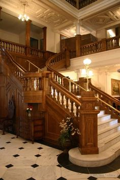 Boldt Castle-ill take a staircase like this please.
