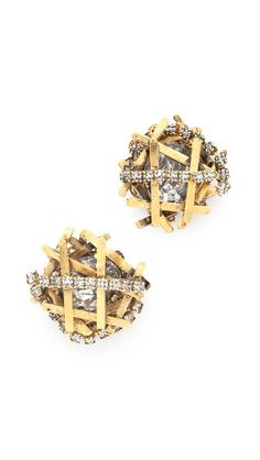 If I wore earrings, I'd have these on all the time. What a cool twist on the diamond stud.