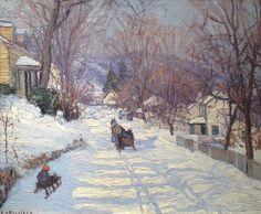 Edward Willis Redfield (American, 1869–1965) Lumberville, 1920.