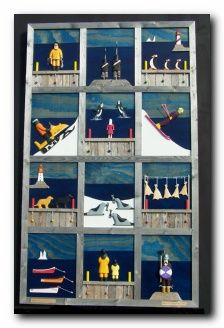 """Ben's Studio """"Quilt of Newfoundland"""" by Ben Ploughman Dyi Painting, Canada, Newfoundland And Labrador, Photo Displays, Beautiful Islands, Quilt Making, Art Lessons, Quilt Patterns, North America"""