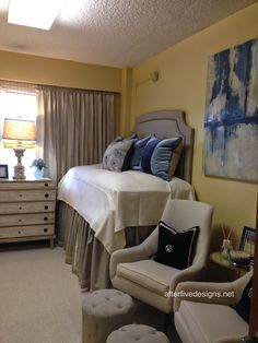 I SEE THE DECORATORS ARE STILL A STAPLE AT THE FRESHMAN DORMS! Ole Miss Martin Dorm Room #3 | Dorm Rooms 2014, Wow...very elegant, just love it!
