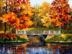 "Fall Blinks — PALETTE KNlFE Landscape Oil Painting On Canvas By Leonid Afremov - Size: 40"" x 30"" (100cm x 75cm)"