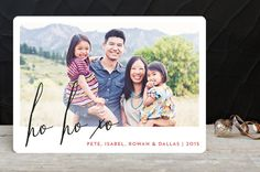 Ho Ho Xo Holiday Photo Cards by Erika Firm | Minted