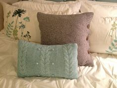 upcycled sweater pillows - Google Search